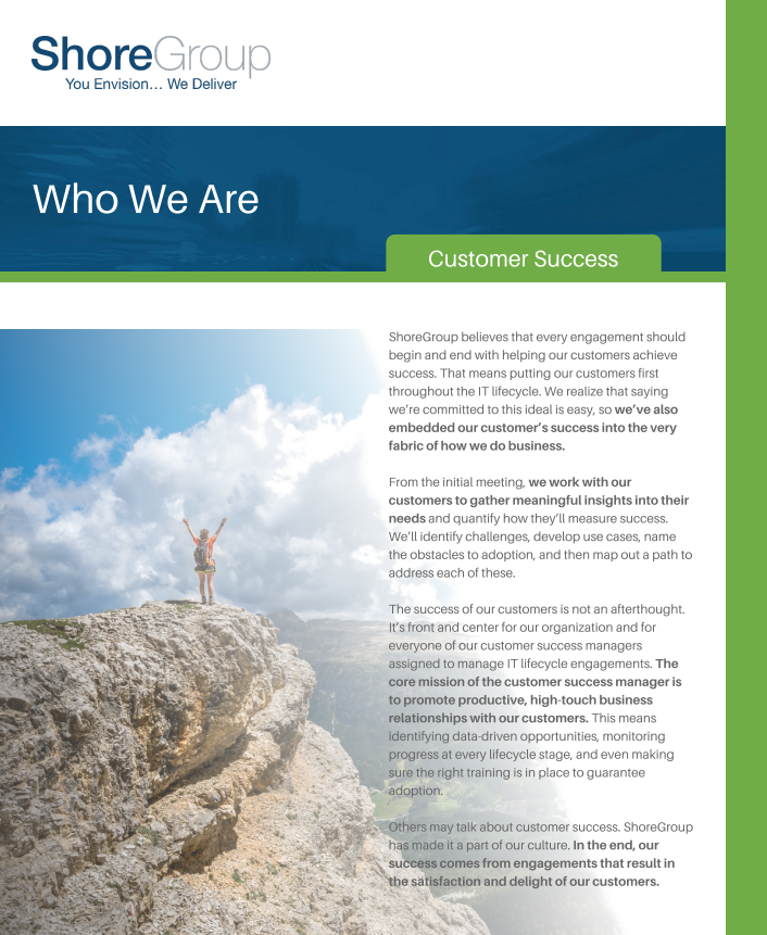 Customer Success Datasheet Cover Page