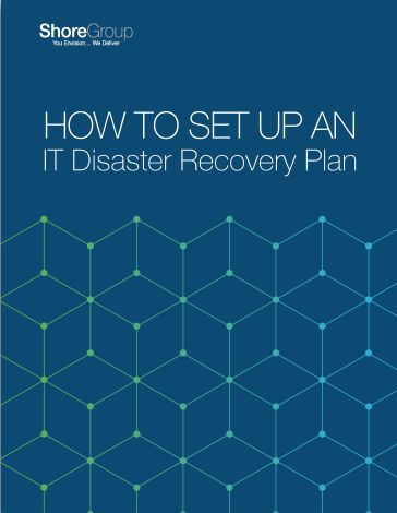 how to set up IT disaster recovery plan cover page