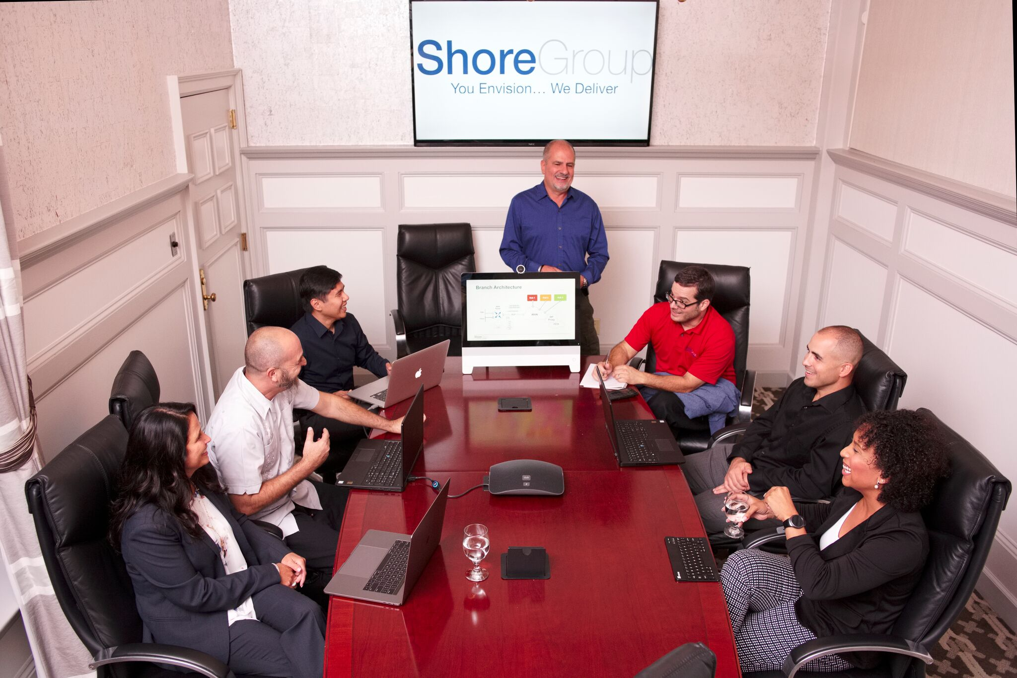 shoregroup employees in a meeting